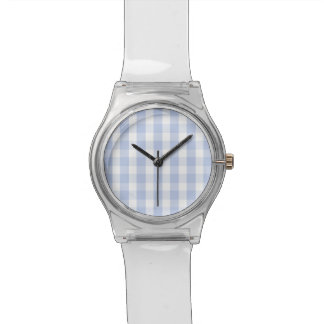 Alice Blue Gingham in an English Country Garden Watch