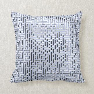 Alice Blue Maze in an English Country Garden Throw Pillow