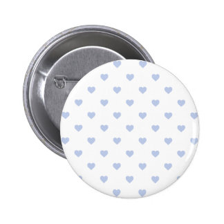 Alice Blue Polka Hearts in English Country Garden 6 Cm Round Badge