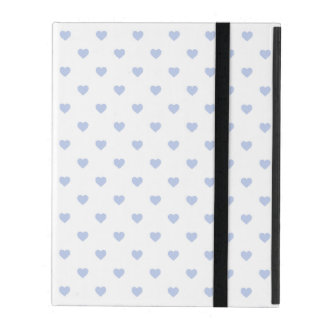 Alice Blue Polka Hearts in English Country Garden iPad Folio Cover