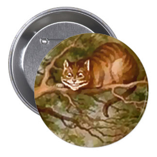 "Alice - Cheshire Cat - 3"" Button"