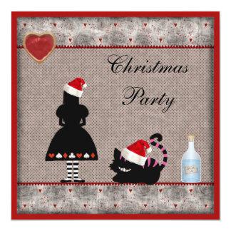 Alice & Cheshire Cat Christmas Party Invites