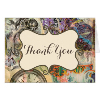 Alice Cheshire Cat Thank You Custom Template Card