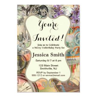 Alice Cheshire Party Invitation Custom Template