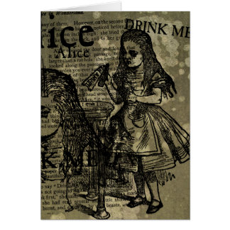 Alice Drink Me Collage Card