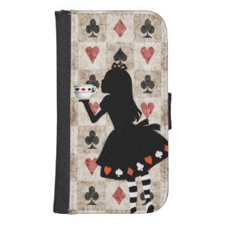 Alice Drinking Tea Samsung S4 Wallet Case