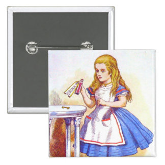 Alice Drinks Color 15 Cm Square Badge