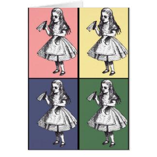 Alice Drinks Pop Art Card