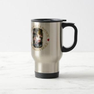 Alice Falls Down the Rabbit Hole to Wonderland Stainless Steel Travel Mug