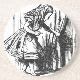 Alice Finds a Door Coaster