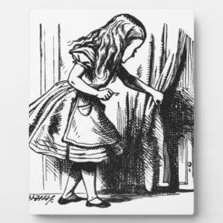 Alice Finds a Door Plaque