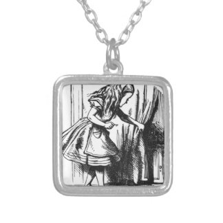 Alice Finds a Door Silver Plated Necklace