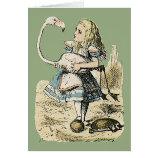 Alice & Flamingo Card