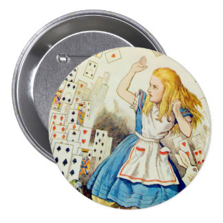 "Alice-Flying Deck Of Cards - 3"" Button"