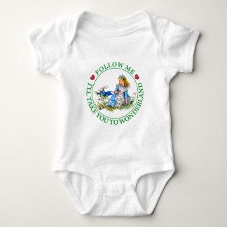 Alice - Follow Me I'll Take You To Wonderland. Baby Bodysuit