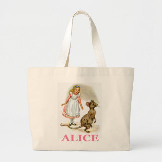Alice follows the mouse tote bag