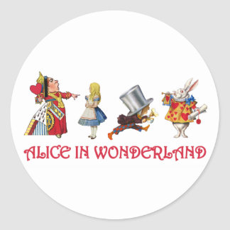 Alice & Friends in Wonderland Classic Round Sticker