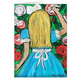 Alice Greeting Card (Customizable)
