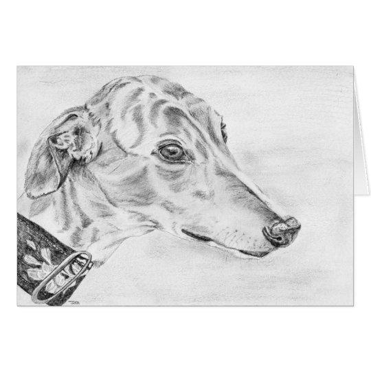 Alice - Greyhound art card (a10)