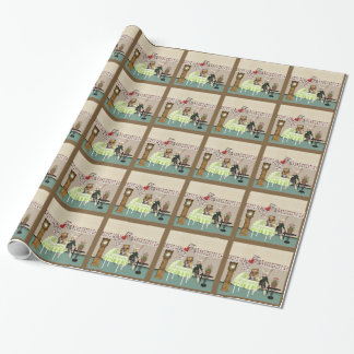 Alice & Hare In Wonderland Over Baby Shower Wrapping Paper