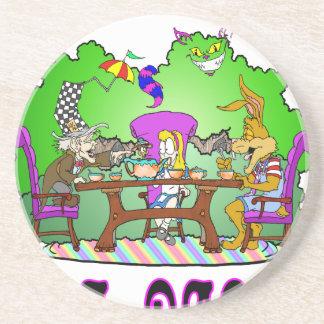 Alice has a Tea Party Coaster