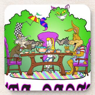 Alice has a Tea Party Beverage Coaster