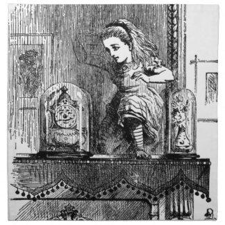 Alice in a Mirror Napkin