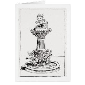 Alice in a Pedestal Card