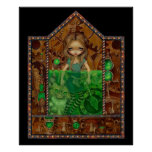 Alice in Absinthe ART PRINT wonderland steampunk