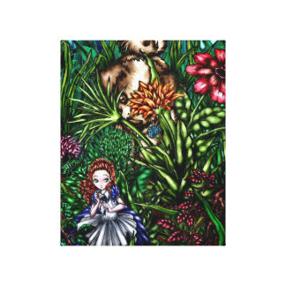 Alice in the Garden Canvas Print