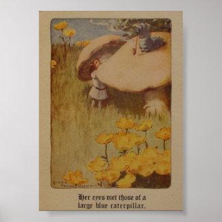 Alice in Wonderland 1907 Illustration Poster