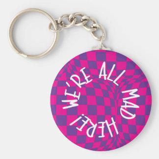 Alice in Wonderland - 5.7 cm Basic Button Key Ring