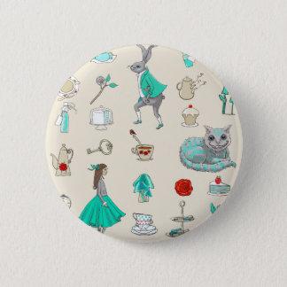 Alice in wonderland 6 cm round badge
