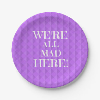 Alice in Wonderland 7inch Purple Paper Plates