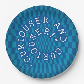 Alice in Wonderland - 9inch Paper Plate - Curious