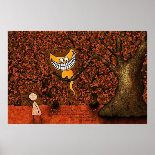 Alice in Wonderland - A Cheshire Cat Print