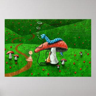 Alice in Wonderland - Advice From A Caterpillar Print