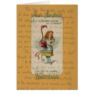Alice in Wonderland: Alice and the Flamingo Card