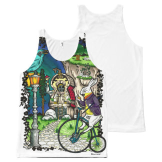 Alice in Wonderland All-Over Print Singlet