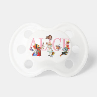 Alice in Wonderland and Friends Baby Pacifiers