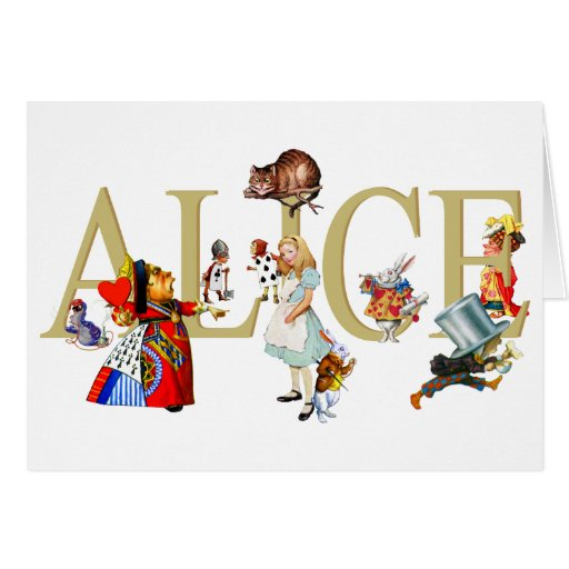 ALICE IN WONDERLAND AND FRIENDS CARDS