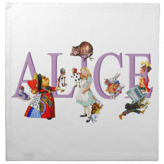 Alice in Wonderland and Friends Cloth Napkins