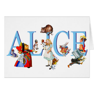 Alice in Wonderland and Friends Greeting Card