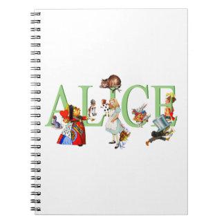 Alice in Wonderland and Friends Notebook