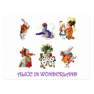 Alice in Wonderland and Her Friends Postcards