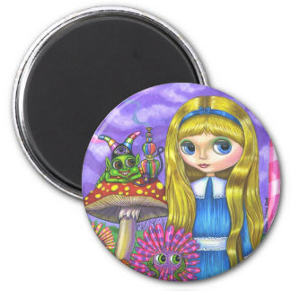 Alice in Wonderland and the Caterpillar Magnet