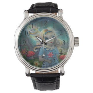 Alice in Wonderland and the Cheshire Cat Art Watch