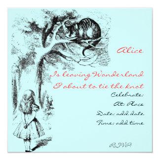 Alice in Wonderland and the Cheshire Cat invite