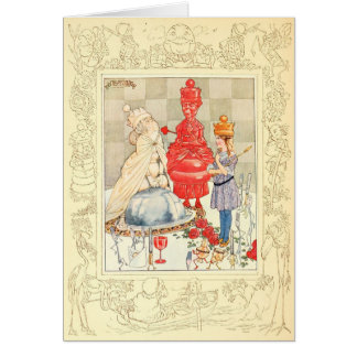 Alice in Wonderland and the Fish Riddle Card