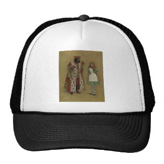Alice in Wonderland and the King of Hearts Trucker Hats